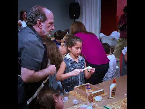 Actividad Infantil en la exposición Vicente Antonorsi: Oblicuas